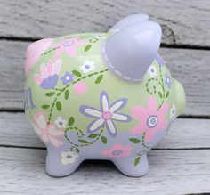 Toddler Crafts, Pigs, Piggy Bank, Paint Colors, Decoupage, Diy And Crafts, Shabby, Baby Shower, Business