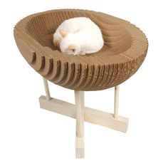 ELEANOR CAT SCRATCHER & BED--- bet I could make this with tons of glue and cardboard for that darn cat.