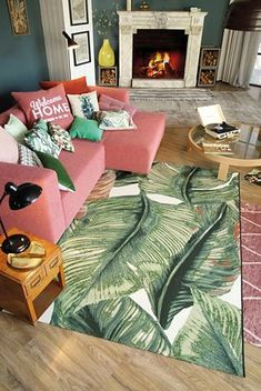 Tom Tailor In- & Outdoor Teppich Garden Leaf Bunk Beds Boys, Bedroom Green, Bedroom Flooring, Bedroom Carpet, Black Decor, Art Wall Kids, Home Decor Bedroom, Interior Design, Tom Tailor