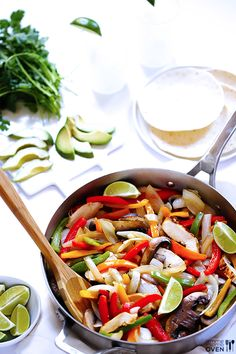 Margarita Chicken Fajitas | Gimme Some Oven The marinade uses tequila!
