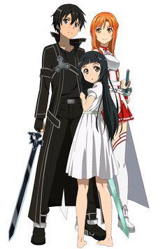 imagenes de kirito asuna y yui - Buscar con Google