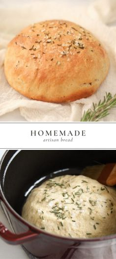 A quick and easy artisan homemade bread recipe that is adaptable. It's perfect for smothering in butter, dipping in oil, or slicing for sandwiches. This homemade bread is moist on the inside, crusty o Homeade Bread, Savory Bread Recipe, Best Homemade Bread Recipe, Homemade Sandwich, Sandwich Bread Recipes, Homemade Bread Easy Quick, Crusty Bread Recipe Quick, Easy Bread, Fast Recipes