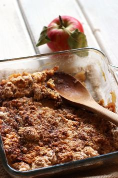 Easy Apple Crisp - made this and it is soooo good!! Just a suggestion, the directions say not to mix the cinnamon and sugar but I did for more distributed flavor!