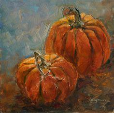 pumpkin painting fall art http://www.dailypaintworks.com/searchart#/artist=dingman atwater, carlene=search=false=1=2012/11/10