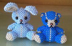Мишка и заяц | biser.info - всё о бисере и бисерном творчестве