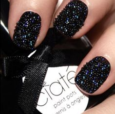 I usually don't like black nails but these are hot!