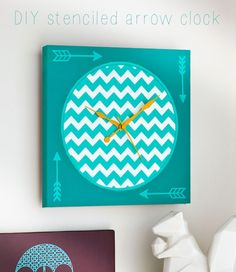 How to stencil a colorful clock