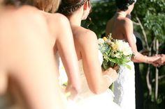 White bridesmaids dresses  |  brian minson wedding photography