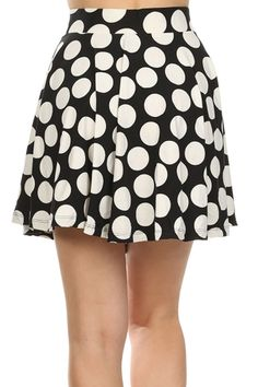 Fashion girls will love this lovely Polka Dot Mini Skater Skirt in Black and White promotion! http://bit.ly/1KrIf4n