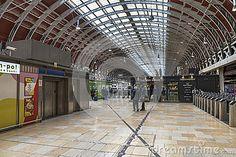 At the platform at Paddington station. London, England
