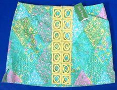 LILLY PULITZER 12 Marigold SUN DANCE Yellow Lace Trim Skort Skirt NWT 12 #LillyPulitzer #Skort
