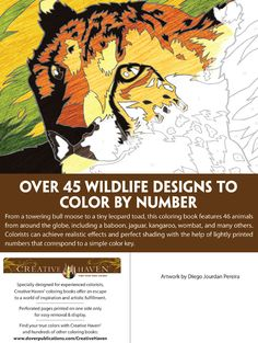 Creative Haven Wildlife Color by Number Coloring Book By: Diego Jourdan Pereira
