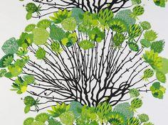 Vappukukka Green Curtain Panel   Harvey Furnishings