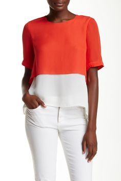 Tulsi Silk Blouse by Elizabeth and James on @nordstrom_rack