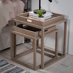 Add style and functionality to any living space with these nestling tray tables.
