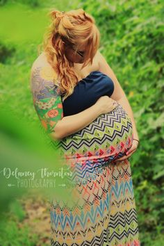 Enchanted forest maternity session. All natural and beautiful. Photo by Delaney Thornton Photography