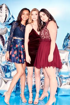 Hello back to school! Your homecoming dress starts at David's Bridal Two piece homecoming dresses, velvet homecoming dresses, and floral homecoming dresses are what you can expect!