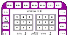 spelbord minsommen tot 10.pdf Math Books, Fall Cleaning, Creative Teaching, Bingo, Learning, Projects, Role Playing Board Games, Educational Games, Activities