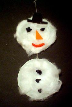 Weihnachten alt/Schneemann an Schnur