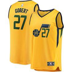 f62b81f9130 Rudy Gobert Utah Jazz Fanatics Branded Fast Break Replica Player Jersey  Gold - Statement Edition