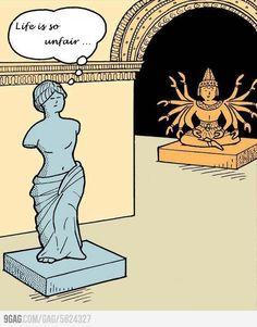 Milói Vénusz elégedetlenkedik