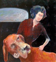 Mel McCuddin, Sleeping Dog oil on canvas Magical Pictures, Outsider Art, Life Drawing, Figure Painting, Contemporary Paintings, Artist Art, Figurative Art, Female Art, Modern Art