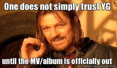 One does not simply trust YG in general.
