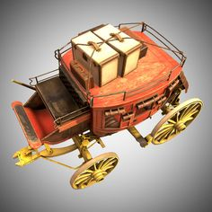 Stagecoach With Luggage Model available on Turbo Squid, the world's leading provider of digital models for visualization, films, television, and games. Toy Wagon, Horse Drawn Wagon, Covered Wagon, Cowboy Art, 3d Cartoon, Stage Coach, Classic Cars, Vehicles, Eagles