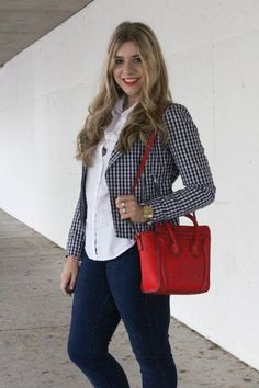 how to wear gingham to the office