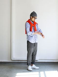 Japanese casual/comfort style, just add white sneakers.