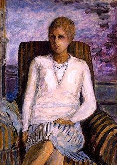 Pierre Bonnard,  Jeune fille au corsage blanc (Mlle. Leïla Claude Anet)