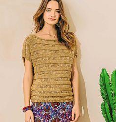 Джемпер песочного цвета с чередованием полос
