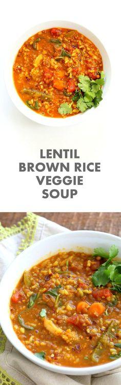 Lentil Brown Rice Soup