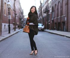 ExtraPetite.com - How to style a poncho sweater   gloves for short fingers