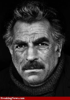 A grizzled ( I LIKE grizzled!)  Tom Selleck
