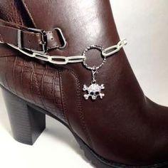 Secessories-Women and Men Accessories Boot Jewelry, Beaded Jewelry, Handmade Jewelry, Diy Jewelry, Jewelry Rings, Jewelery, Boot Bling, Bling Shoes, Boot Bracelet