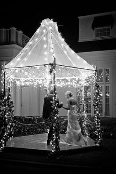 Id LOVE to have this outside our resection place so our first dance was a special place. Not in the middle of the dance floor <3 So magical .