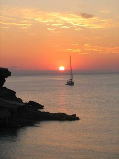 Posta de sol a Cala Saona Formentera