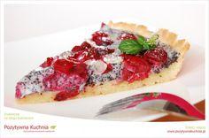 Tarta wiśniowa na makowej śmietance - #przepis na tartę z wiśniami i makiem  http://pozytywnakuchnia.pl/tarta-wisniowa-na-makowej-smietance/  #wisnie #tarta #ciasto #kuchnia #mak