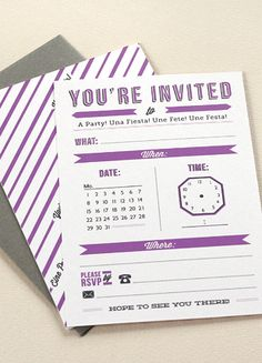 #free #invite #invitation #invited  #diy #airplane #printable #clock #purple