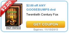 $2.00 off ANY GOOSEBUMPS dvd