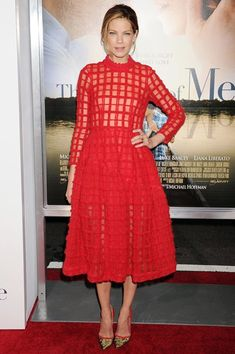 Best dressed - Michelle Monaghan in a Simone Rocha red dress