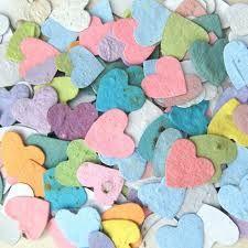 Confetti Hearts - Flower Seed Wedding Favors