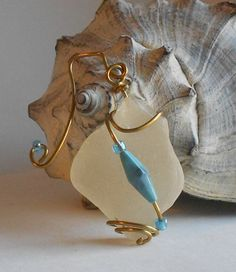 Sea Glass Beauty necklace or nautical decor by SeaGlassStyle, $25.00