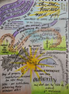 Notes (page 1) from Nadia Bolz-Weber talk, sponsored by LEAD in Houston 3-22-14