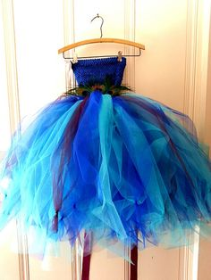 Peacock Tulle Tutu Dress w/HeadbandTeal Blue and by AriellesRunway, $98.99