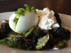 Daily Veg: Broccoli with a Soft-Boiled Egg and Stracciatella from Brucie