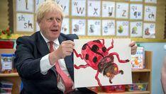 Johnson on the agenda with 'angry ladybug' painting