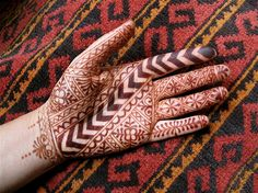 traditional moroccan henna with kilim