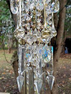 Vendido  reflejo y brillo antiguo cristal viento por sheriscrystals